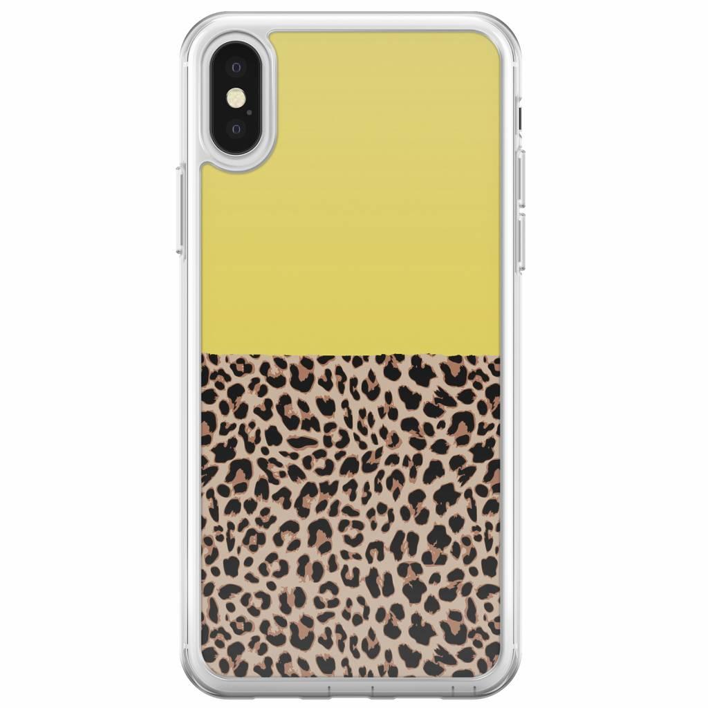 Iphone xs hoesje luipaard