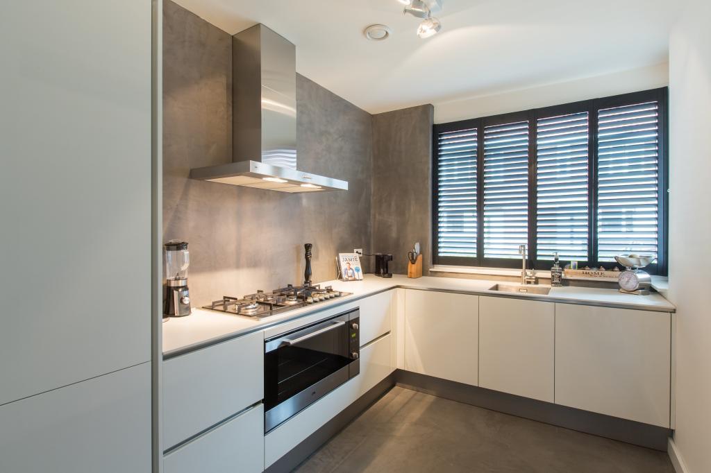 houten shutter keuken