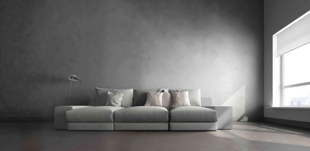 Hoe combineer je de betonlook in huis?