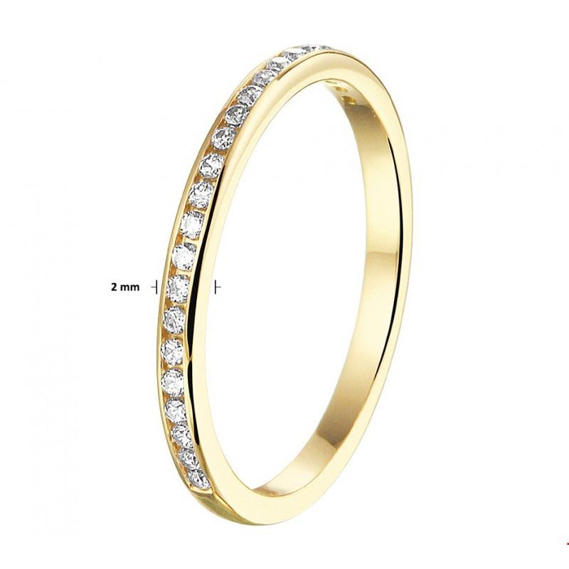 Goud ring blijft mooi